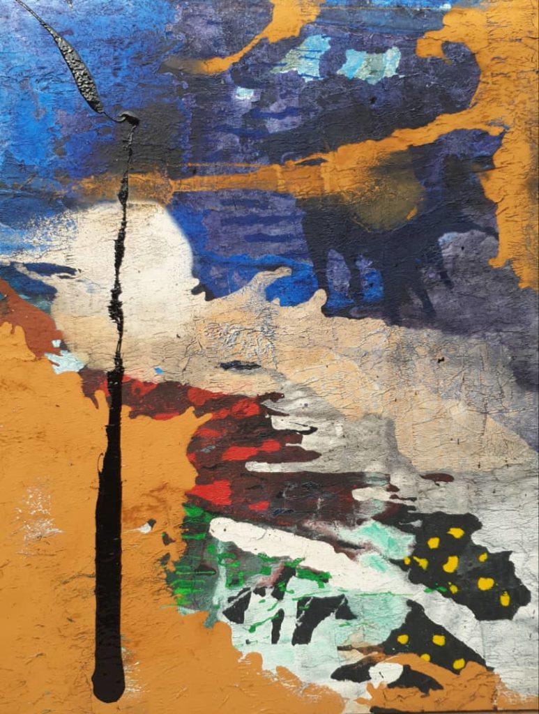 Tableau Vague de Vie, TCHIF Artiste plasticien Bénin
