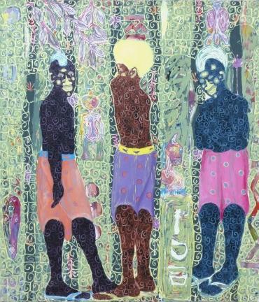 Kassou-Seydou-Les-richesses-de-Je-ne-sais-où-2019-Acrylique-sur-toile-150-x-130cm Exhibitions : The Cecile Fakhoury Gallery presents a series of travels