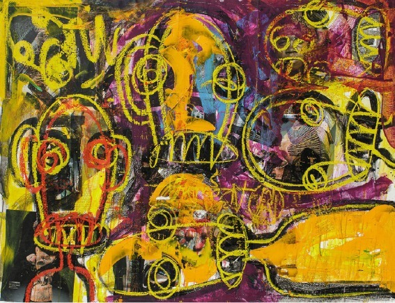 Abdoulaye-Diarrassouba-dit-ABOUDIA-La-vie-en-violet Contemporary African Art Auction : a record and wonderful surprises at Artcurial