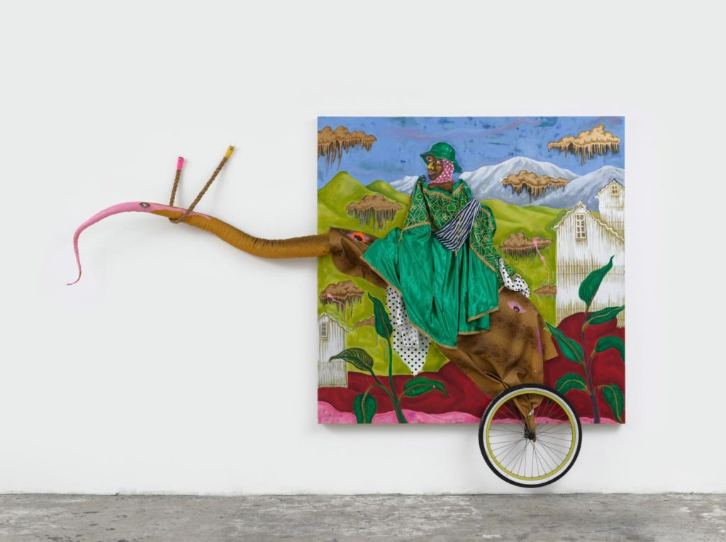 «Oracles of the Pink Universe», the latest exhibition by contemporary artist Simphiwe Ndzube at the Denver Art Museum